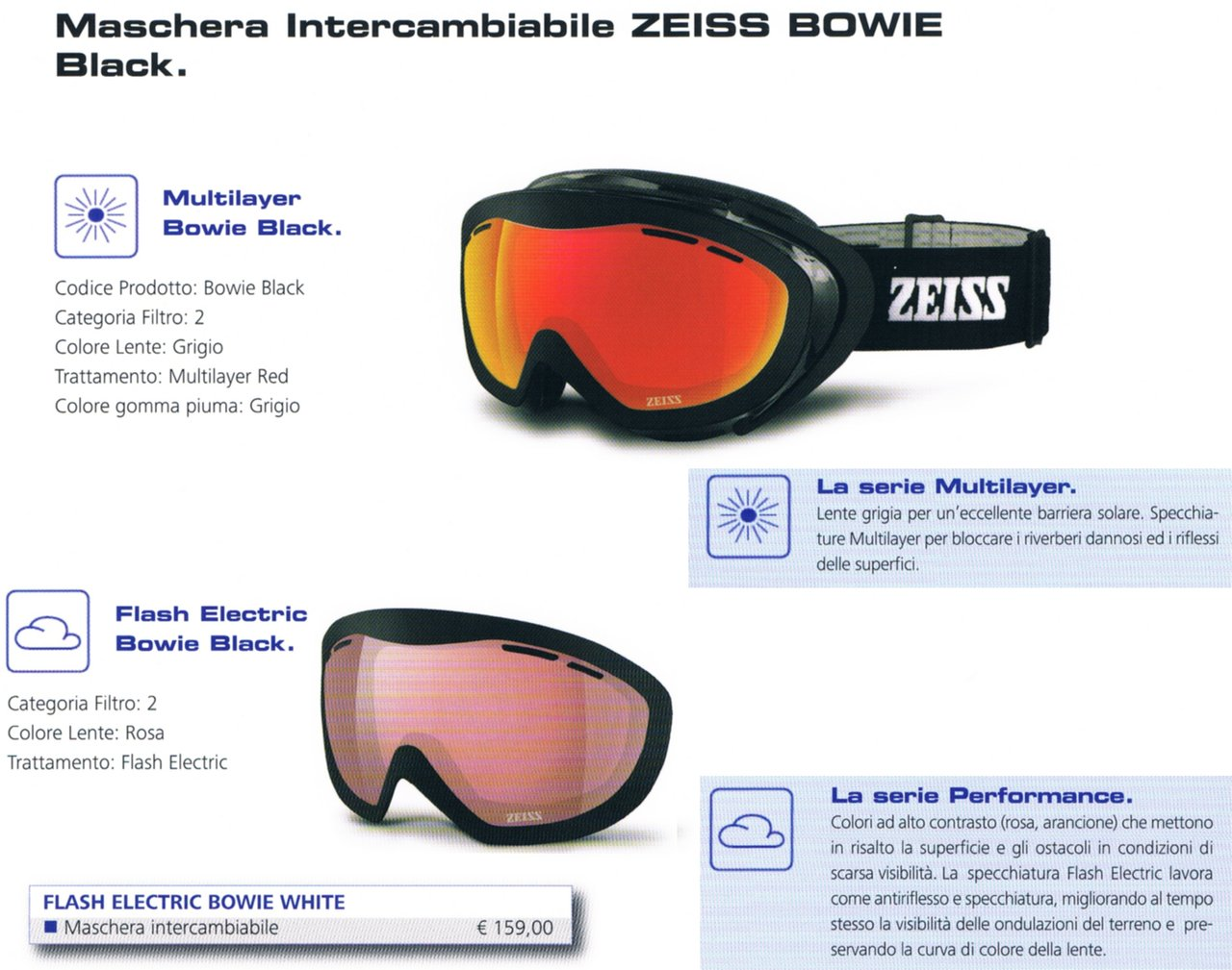 df7eb51b7d Ski Mask ZEISS BOWIE BLACK DUOBLE LENS Ski Goggles