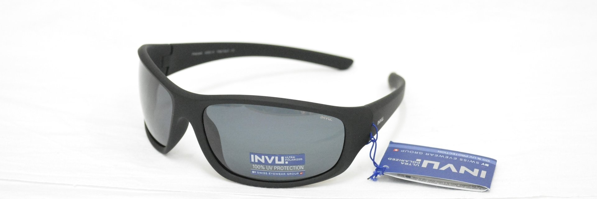 9616295ea0 Sunglasses INVU A 2501 B BLACK RUBBER POLARIZED OTTICA TRAINA