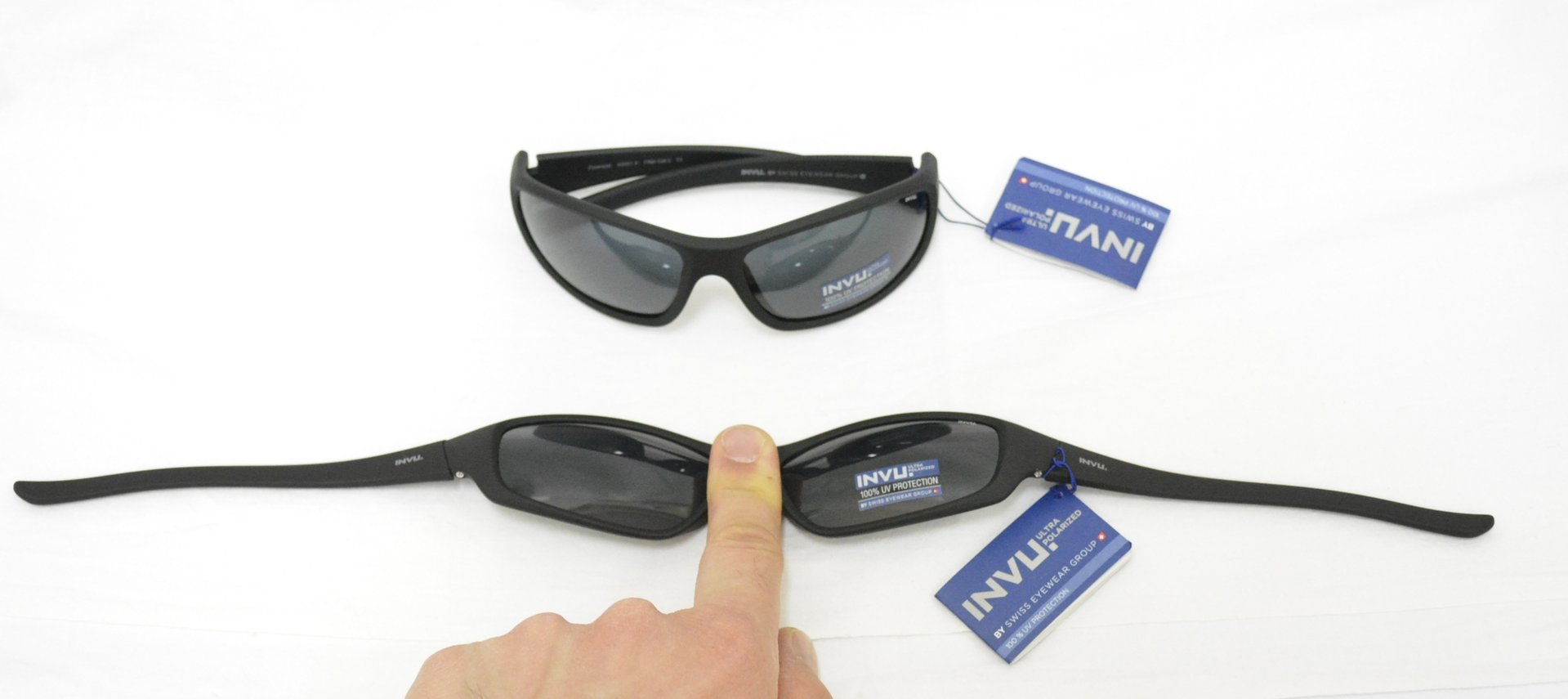 a0fe37d2831 Sunglasses INVU A 2501 B BLACK RUBBER POLARIZED OTTICA TRAINA