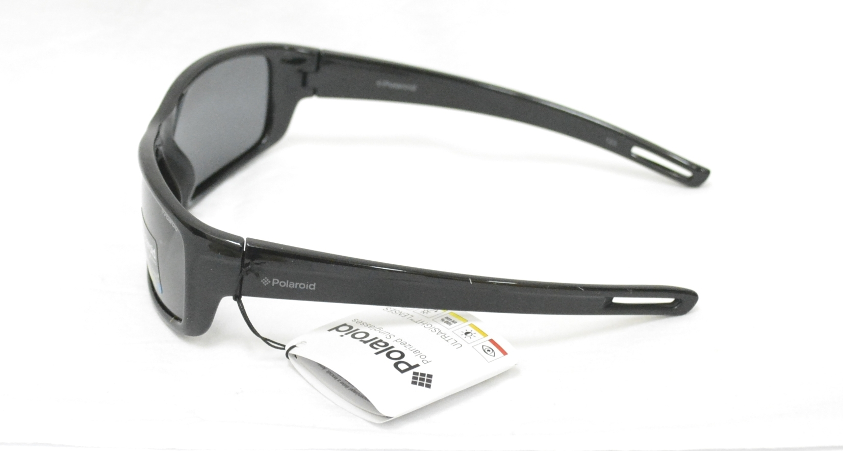 3a2d5d08d82ab3 Sunglasses Polaroid P 0423 A KIDS BLACK GREY LENSES OTTICA TRAINA