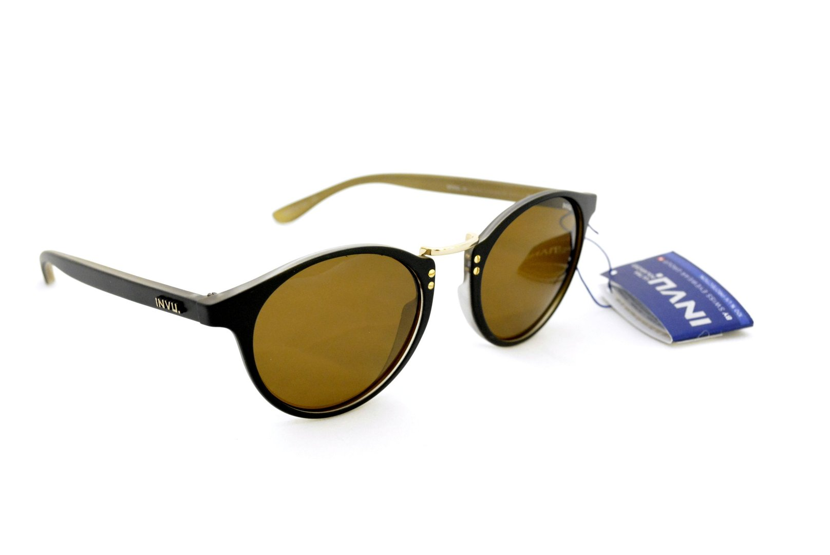 8b4763f2fb Sunglasses INVU T 2621 A BLACK LENSES POLARIZED OTTICA TRAINA